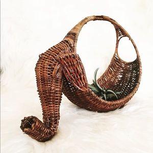 Vintage wicker elephant basket